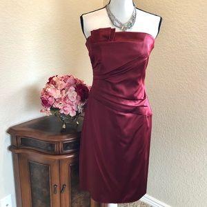 WHBM Satin Strapless Dress